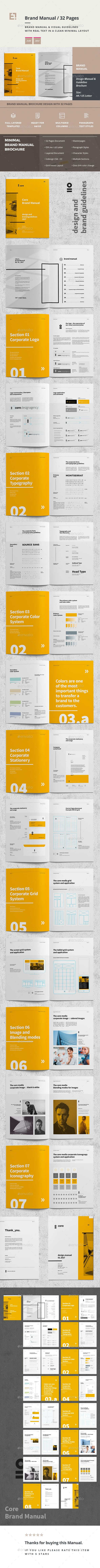 Brand Manual - #Corporate #Brochures Download here: https://graphicriver.net/item/brand-manual/19539974?ref=alena994
