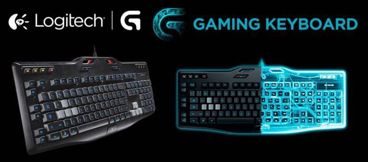 Logitech g105 gaming keyboard led backlighting black nib