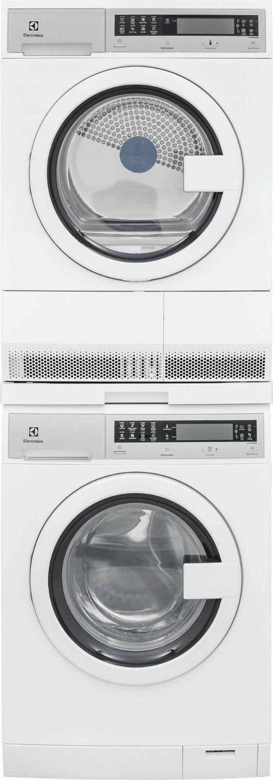 "Electrolux 24"" Washer, Electric Dryer & Stack Kit. EIFLS20QSW & EIED200QSW"