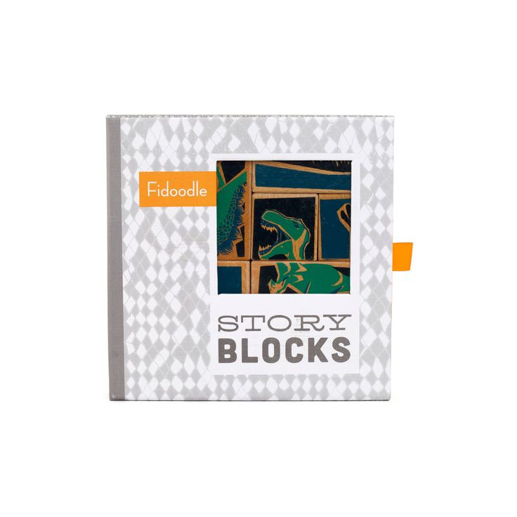 Palaeontologist Wooden Story Blocks by Fidoodle