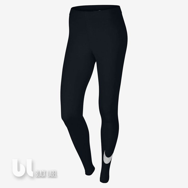 Nike Club Large Swoosh Damen Sport Leggings Fitness Jogging Leggings Schwarz M in Kleidung & Accessoires, Damenmode, Fitnessmode   eBay!