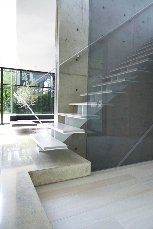 *Stairs, modern interiors, design, architecture, glass, minimalism* - belvedere house by Guido Costantino Design Office