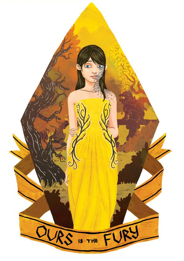 Shireen Baratheon from A Song of Ice And Fire by George R. R. Martin. Illustration by Azim Al Ghussein.