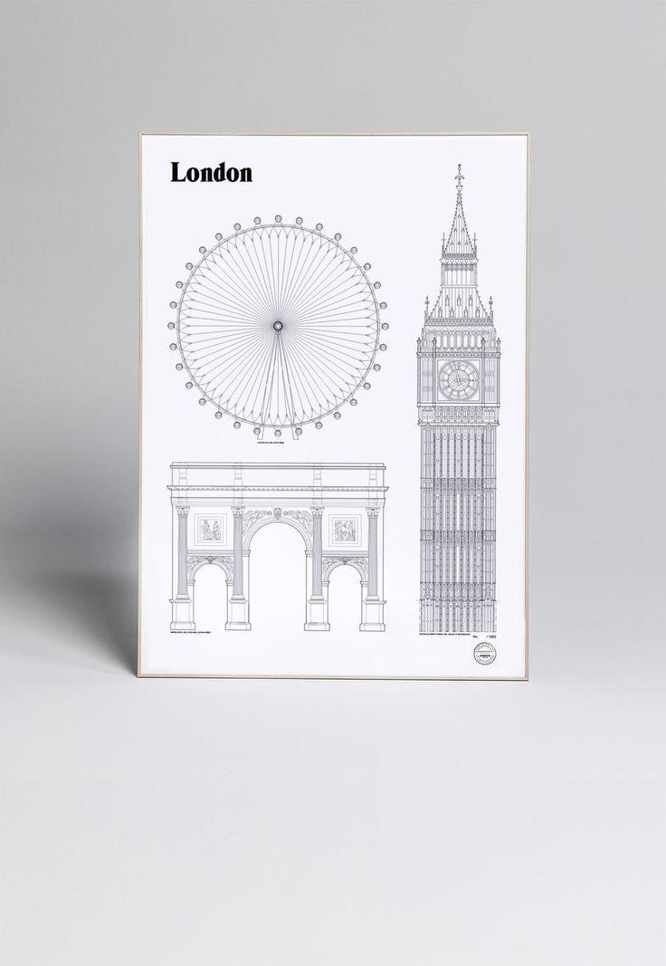 London Landmarks via Designfirman Gamla Stan. Click on the image to see more!