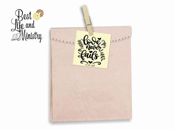 JW International Convention Gift Tags | Love never fails