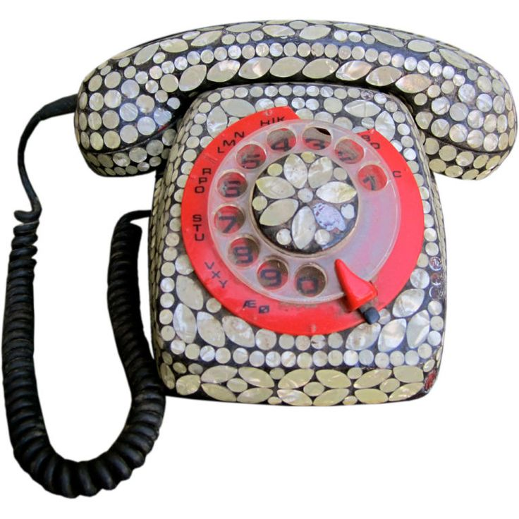 To do someday!Seashells Inlaid, Donobedian, 1960S, Shell Inlaid Rotary Phone, Rotary Obsession, Rotary Phones, Rotary Telephone, Crazy Telephone, Telephones Oh