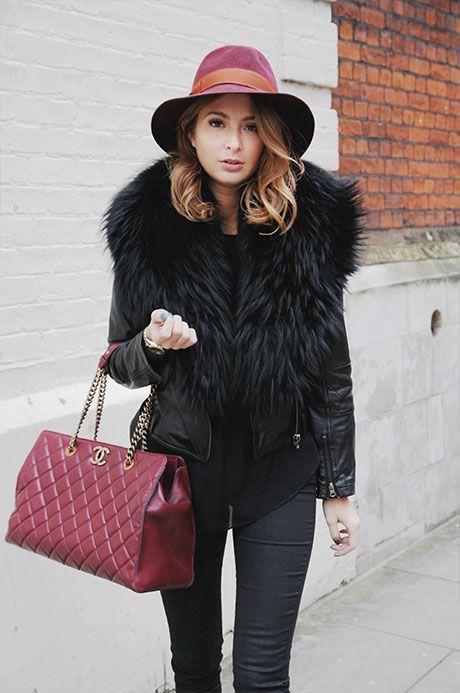 Style Diary Millie Mackintosh  JEANS – KOOPLES  SHOES – ASH  TOP – NONOO  JACKET – PRODIGA  HAT - D  BAG – CHANEL