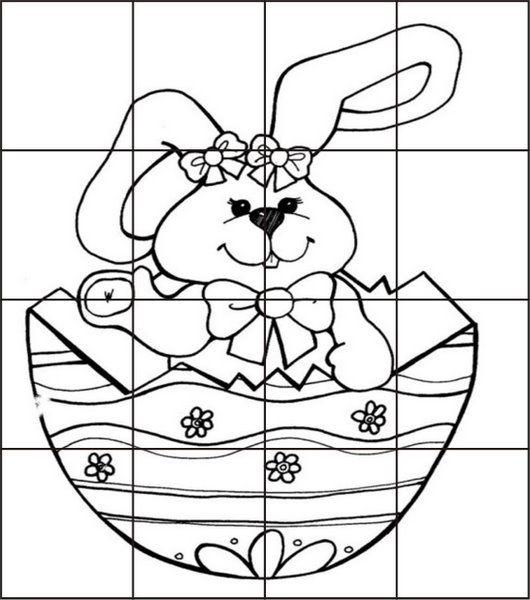 Desenhos Para Colorir Quebra cabeça palhaços e coelhos para recortar ...