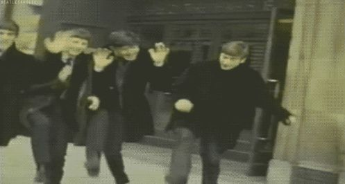 The Beatles-Live in BBC Photo session,1963-DANCING     #beatlesgif    excited!! Young beatles -- they'd go straight to the BBC ^& play/sing their brand new record LIVE, and it would sound dead ringer, like the ALBUM.  This has the happiness in it, but it makes me dizzy.  #beatlesgif