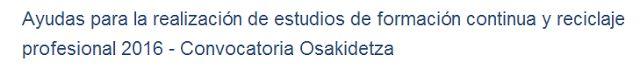 Osakidetza publica ayudas para la formación continuada.