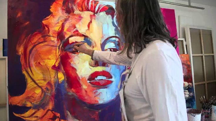 Watch this great video if you have time!! VOKA - Marilyn Monroe - Spontaneous Realism, via YouTube. I love EVERYTHING about this; the colours, the techniques and even his contemplation over the progression of the painting!