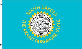 """Flag of the Day """"The Mount Rushmore State"""" http://www.a1flagsnpoles.com/south-dakota-state-flag"""