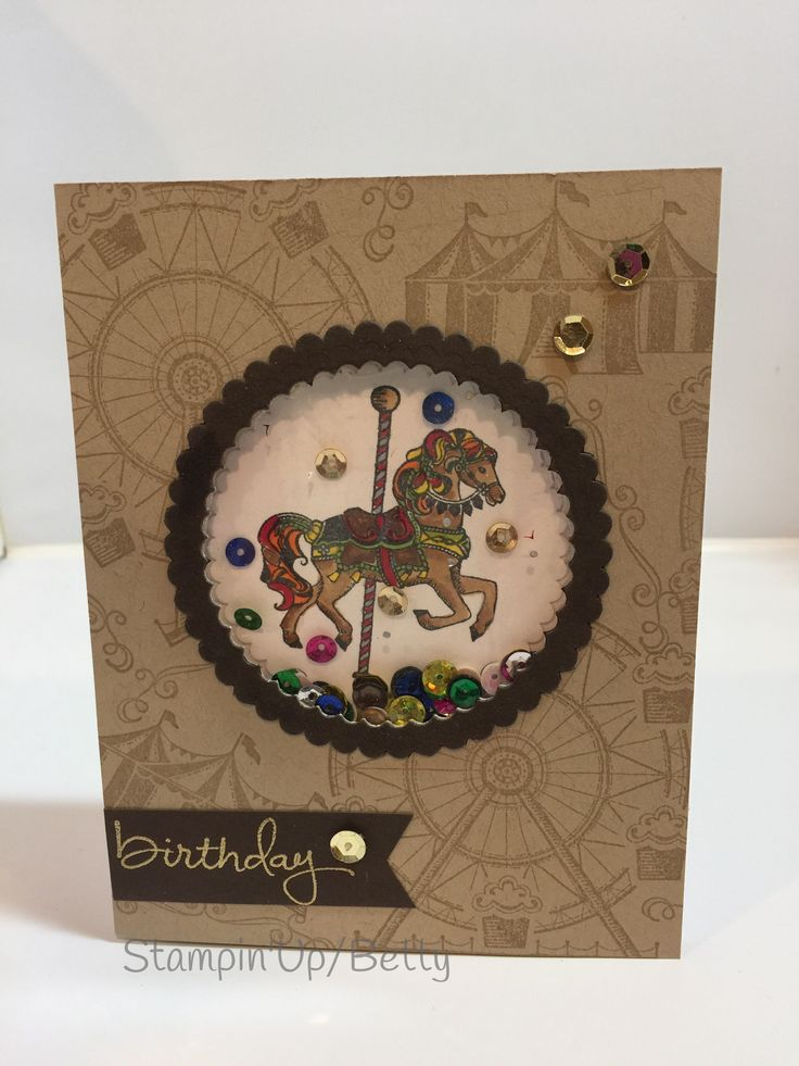 Stampin'Up, Carousel birthday and endless birthday wishes, stamp set.