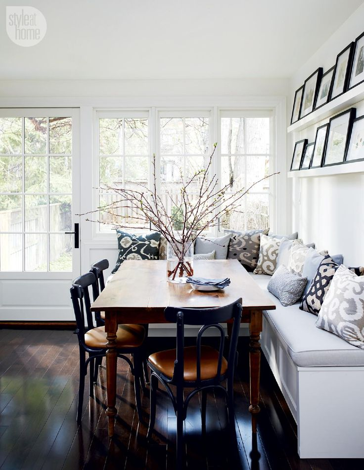 Delightful House Tour: Charming And Sophisticated Victorian Rowhouse. Kitchen Banquette  ...