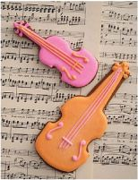 Cookie Couture: cello and violin
