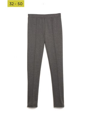 charcoal ponte leggings with seam