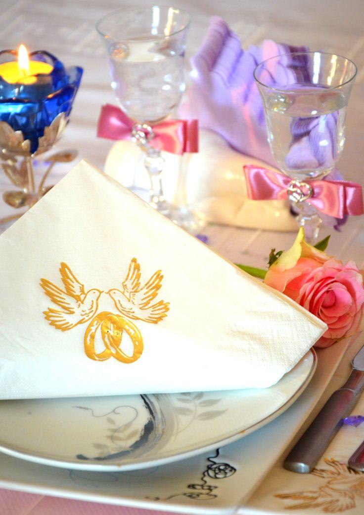 Zaplanuj swoje wesele z Nami! Piękneślubne serwetki GAJO !:)  || www.gajo.biz.pl