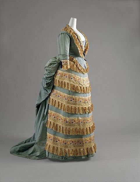 House of Worth   Ball gown   1872   Silk
