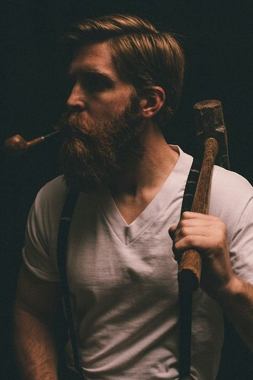 This man and his beard with some wood to chop. ❤️