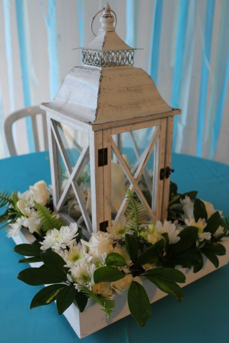 Moss Lantern Centerpiece : Best images about centerpieces wood slab lantern on