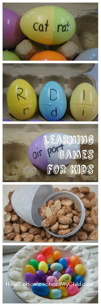 learning games for kids & easter egg activities from How to Homeschool My Child.com
