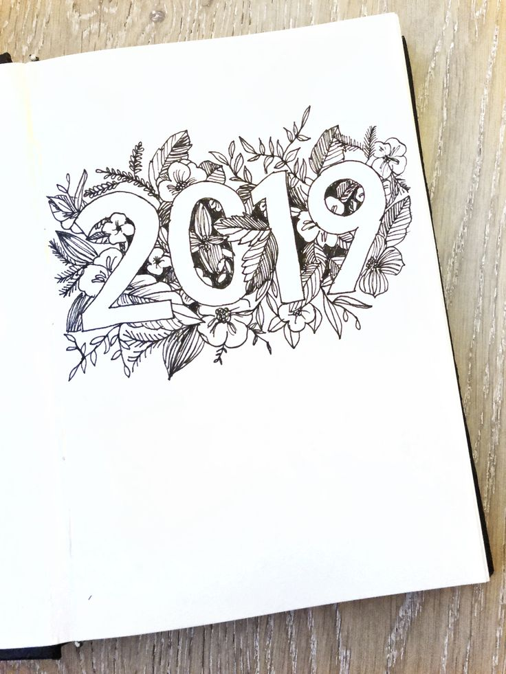 2019 bujo cover page