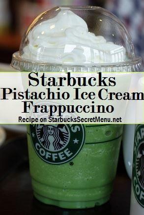 Starbucks Secret Menu Pistachio Ice Cream Frappuccino! Recipe: http://starbuckssecretmenu.net/starbucks-secret-menu-pistachio-ice-cream-frappuccino/