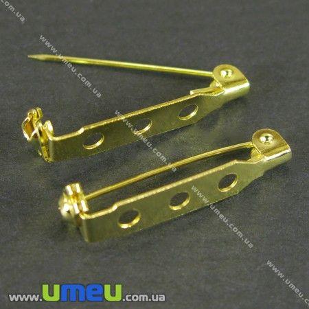 Основа для броши, Золото, 27х5 мм, 1 шт. (OSN-000464)