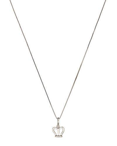 18k White Gold Heart Pendant Necklace w/ Diamonds