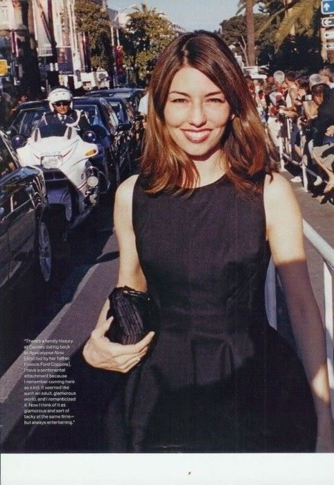 Sofia Coppola - I've always had layers in my hair so I'm trying to achieve this long bob look.