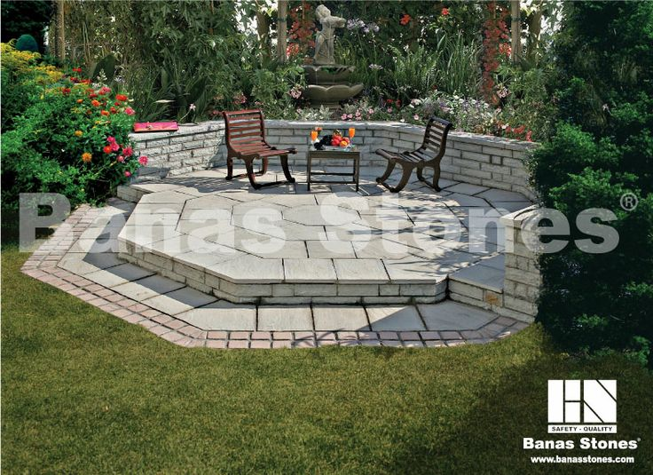 Banas Grey Garden Pavers available at Lanes Landscaping 3500 Mavis Rd, Mississauga, ON L5C 1T8