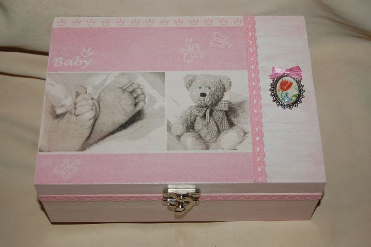 Pink baby box by PearlboxStudio on Etsy