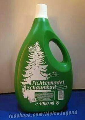Fichtennadel war im Bad irgendwie ein beliebter Duft in den 60er/70er Jahren. Ich war kein Fan.
