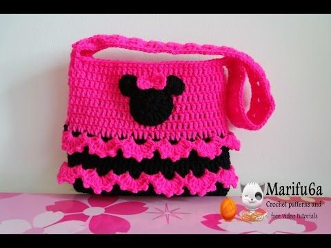 How to crochet minnie mouse bag soda tab purse full free pattern tutorial for beginners, My Crafts