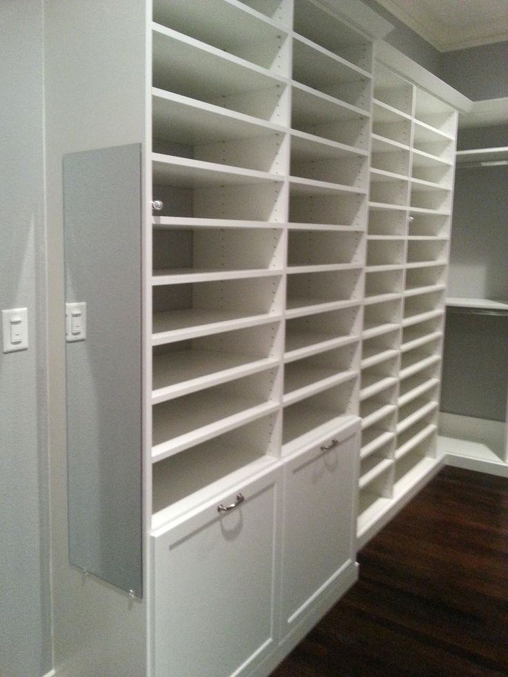 So Much Shoe Storage Potential In This Custom Closet