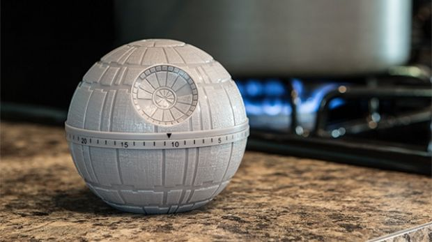 Death Star kitchen timer. From  '10 Ways To Star Wars Up Your Kitchen' on goodfood.com.au.