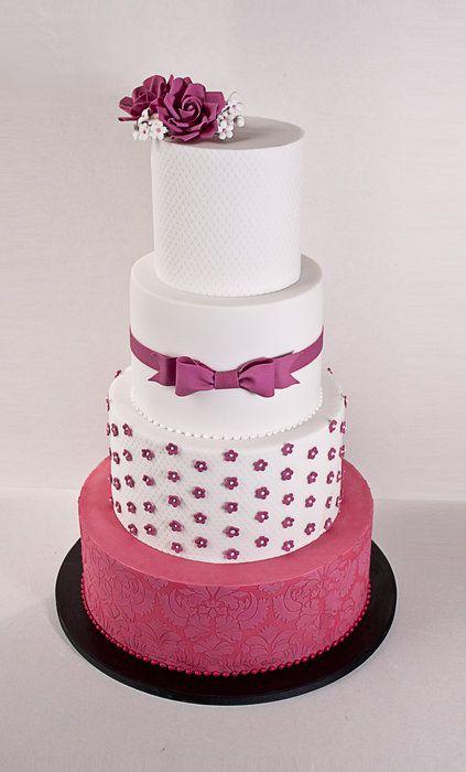 Fuschia Wedding Cake A Sweet For Couple