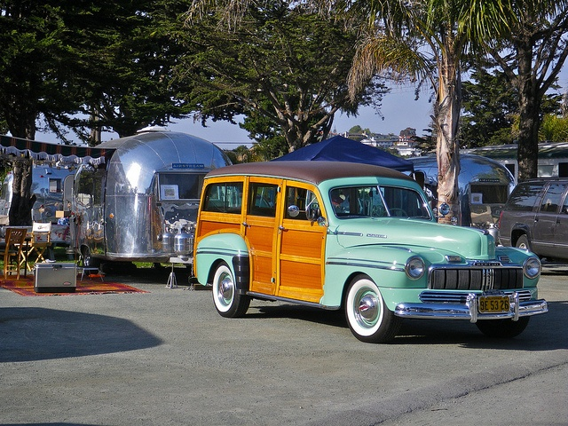 Airstream and  A Woody
