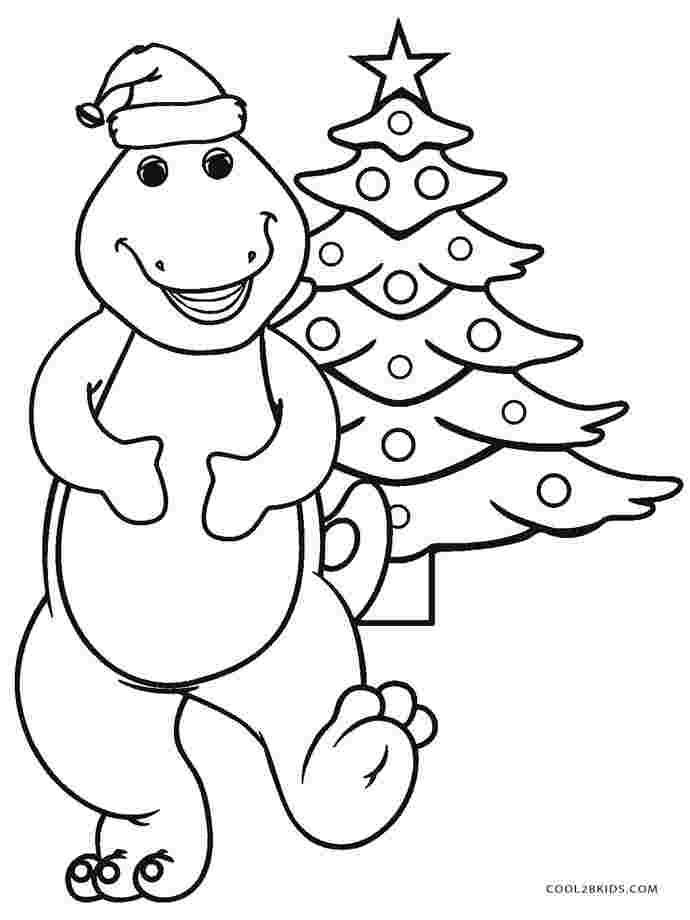 Barney Coloring Pages Printable In 2020 Dinosaur Coloring Pages Cartoon Coloring Pages Christmas Tree Coloring Page