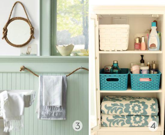 Roundup: 9 DIY Bathroom Organization and Storage Ideas