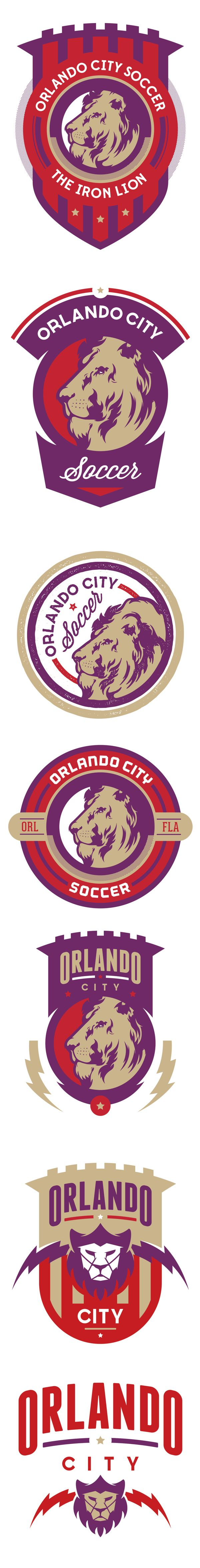 Orlando City Soccer Comps by Danger Brain, via Behance