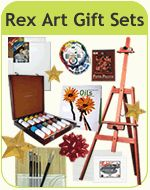 How to choose the best paint brushes, the difference in bristles.  Holiday Shopping for Artists Made Easy with Rex Art Gift Sets!
