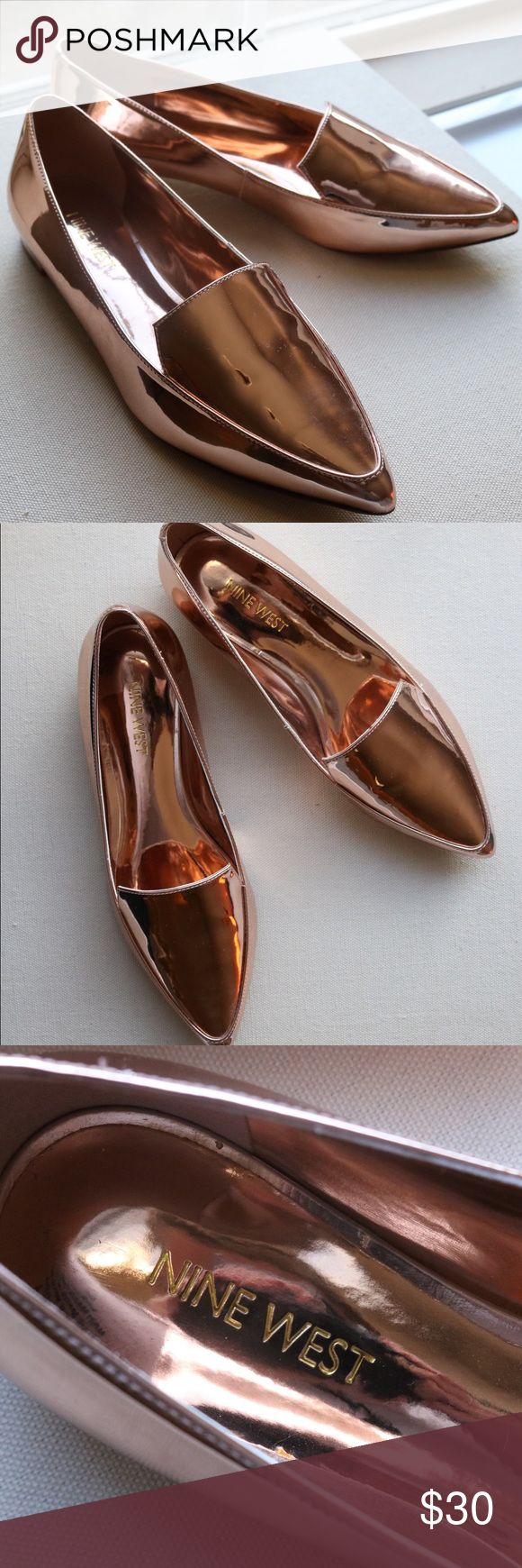 Nine West Abay Smoking Flats - Rose Gold NEVER WORN - Nine West Abay Smoking Flats in Rose Gold Nine West Shoes Flats & Loafers
