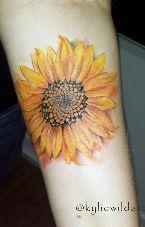 sunflower tattoo kylie heslop wild artist