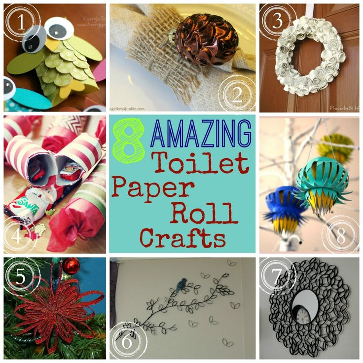 Toilet Paper Problems SOLVED!   8 Amazing Toilet Paper Roll Crafts
