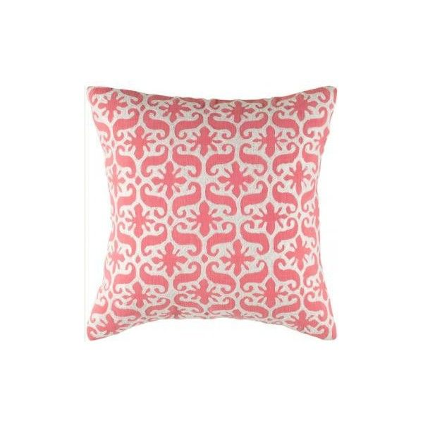 Charlotte Decorative Pillow ($54) ❤ liked on Polyvore featuring home, home decor, throw pillows, pillows, fillers, furniture, traditional throw pillows, embroidered throw pillows and traditional home decor