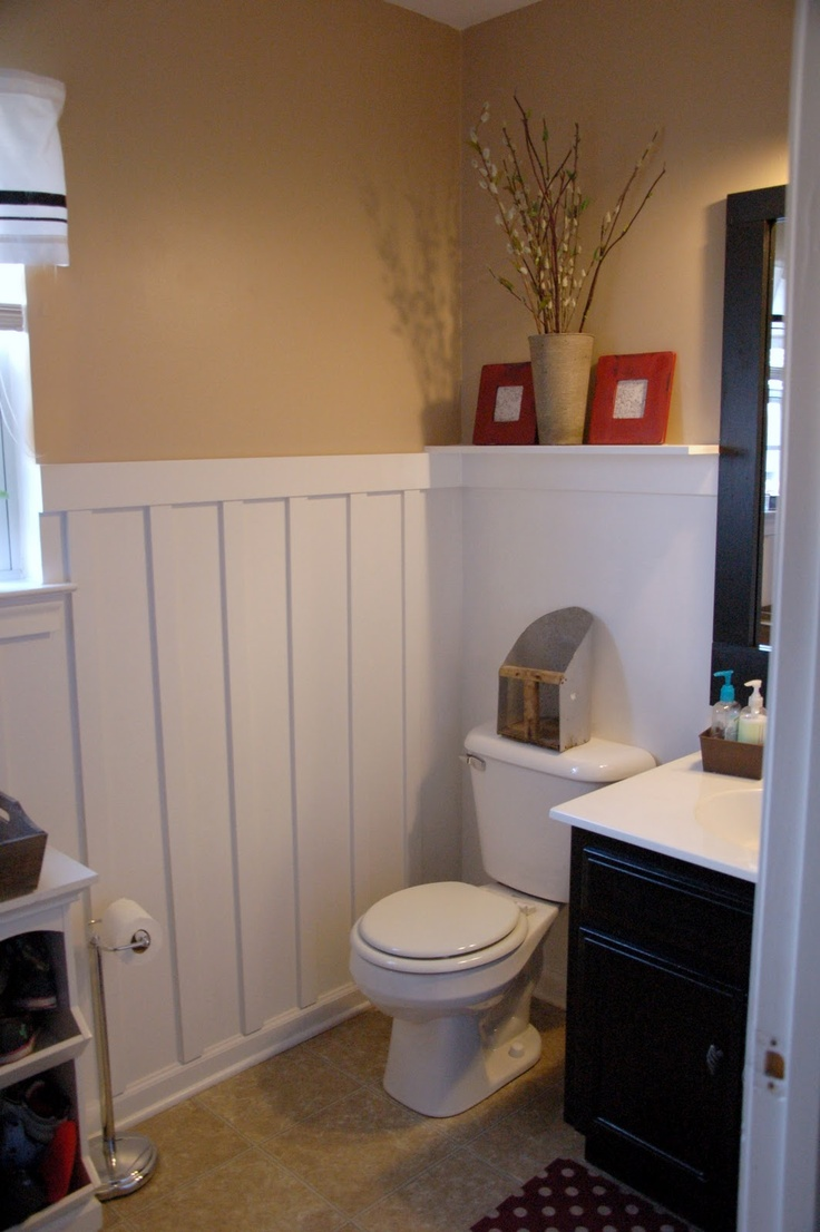 she's crafty molding  bathroom ideas  pinterest