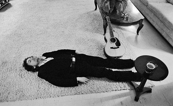 Bob Dylan taking a break...