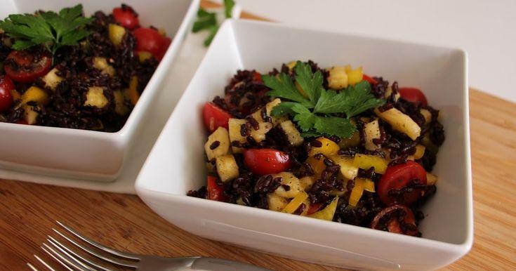 Salade de riz noir à l'ananas, une recette star pour l'été! - La Fée Stéphanie