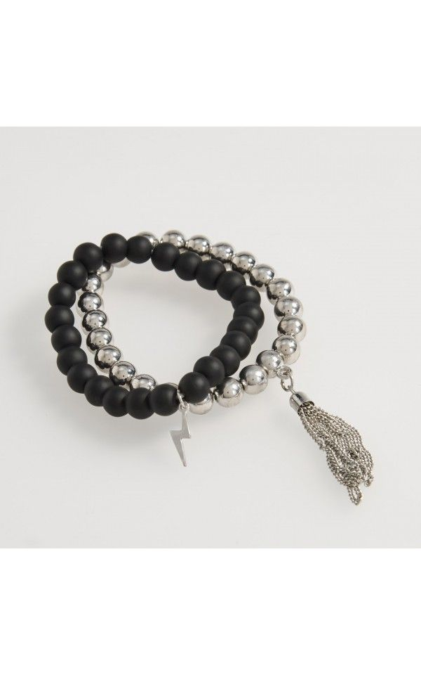 Bracelets with pendant, NEW COLLECTION SK 16, black, RESERVED